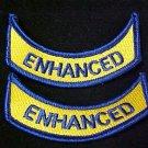 ENHANCED EMS EMT Medical Rocker Navy Gold Emblem Arm Patch Set of 2