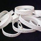 Bone Cancer Bracelets White Silicone Awareness HOPE FAITH COURAGE 12 pc Lot New