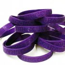 Purple Awareness Wristband Bracelets Lot 150 Pieces Cancer Causes Silicone New