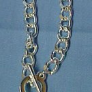 Pink Ribbon Breast Cancer Awareness Toggle Heart Charm Link Bracelet New