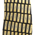 Silk Men's Neck Tie Stonehenge Cocktail Collection Block Pattern Yellow Navy