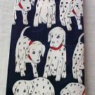Navy Blue Pascal Polyester Men's Neck Tie Dalmation Fire Dog Dalmatians Used