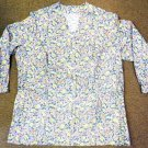 Spring Flower Jacket Floral Premier Uniforms V Neck Medical Top 5XL USA New