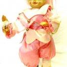 Brinns May Flowers Pole Pink Jester Bells Rose Calendar Clown Doll Vintage