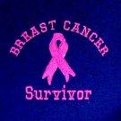 Breast Cancer Survivor Sweatshirt Pink Ribbon Navy Blue Crew Neck Blend 5XL New