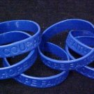 Dark Blue Awareness Bracelets 6 Piece Lot Silicone Wristband Cancer Cause New