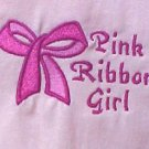 Breast Cancer T Shirt M Awareness Ribbon Girl Bow Pink Short Sleeve Blend New