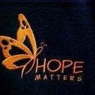 Hope Matters Black Hoodie 2XL Orange Butterfly Sweatshirt Melanoma Unisex New