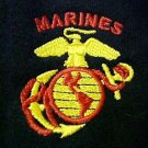 US Marine Corps Sweatshirt Black Hooded Marines Eagle Globe Anchor Design 5X New