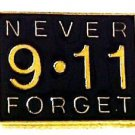 9 11 Never Forget Lapel Pin Tac Terrorist Remembrance Gold Plated Black New