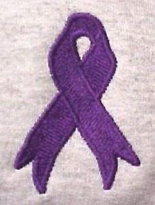 Purple Ribbon Hoodie 3XL Awareness Sweatshirt  Ash Gray Gildan Alzheimer's New