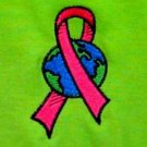 Pink Ribbon World T Shirt 5XL Breast Cancer Awareness Lime S/S Crew Neck New