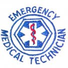 EMT White Hoodie Sweatshirt S Emergency Medical Technician Star of Life New