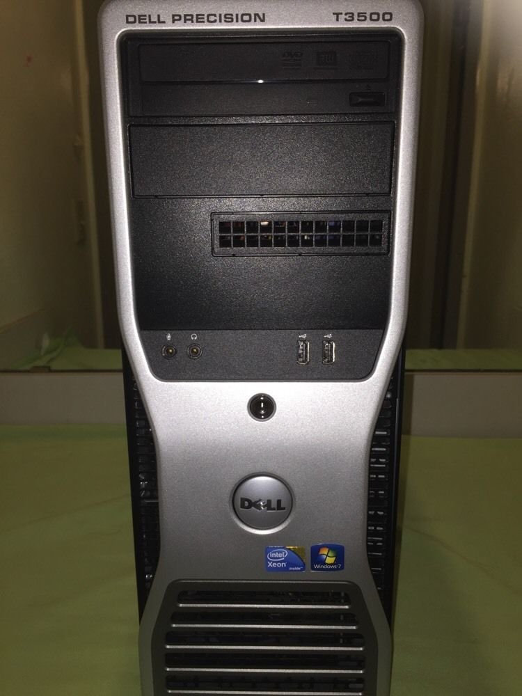 Dell Precision T3500 Intel Xeon W3530 @2.80GHz/4GB RAM/No HDD/No OS/DVD+ -RW