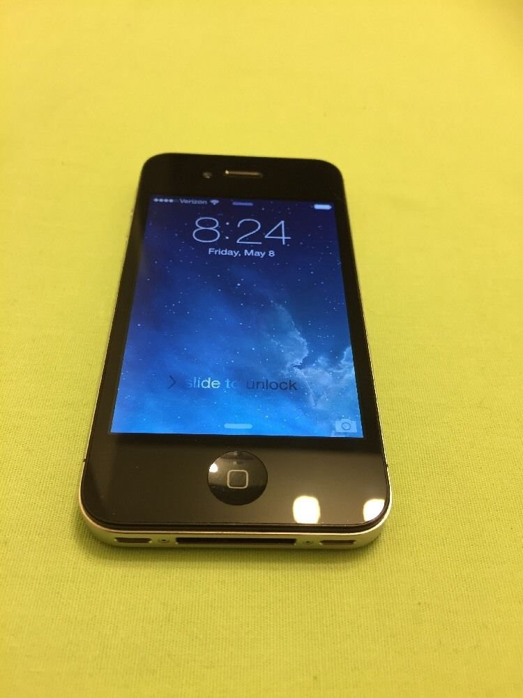 Apple iPhone 4 - 16GB -Black Verizon Smartphone Model 676LL/A Clear ESN & iCloud