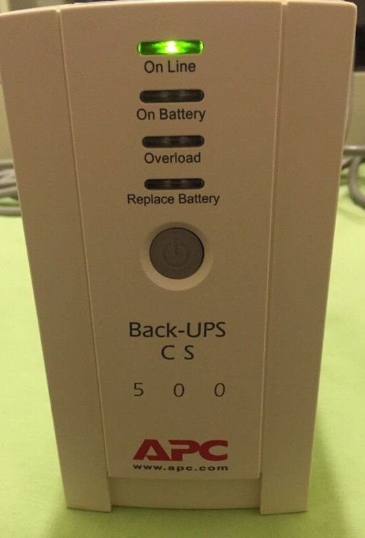 APC Back-UPS CS 500 Battery Backup Six Outlet Unit Battery NOT included