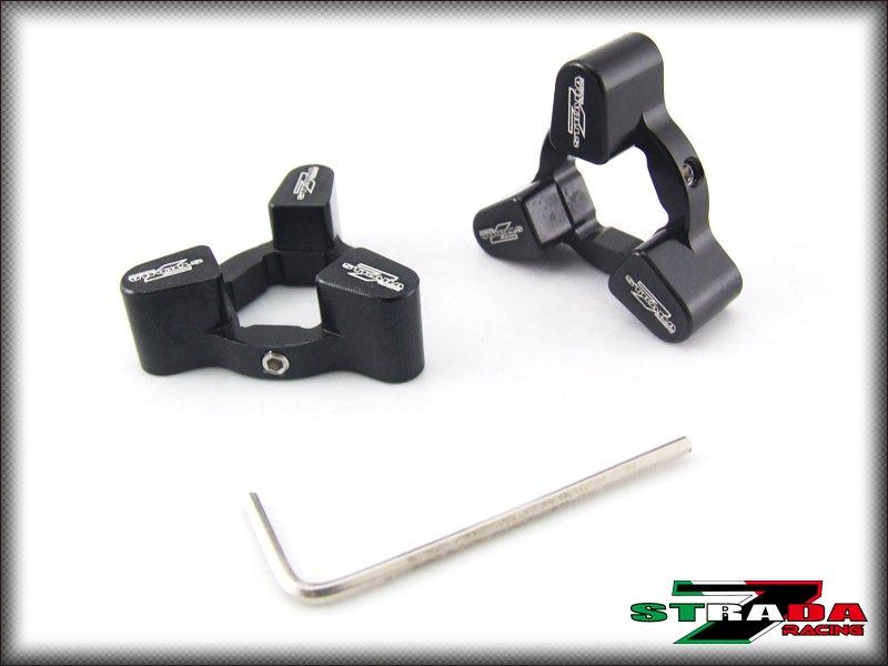 Strada 7 Racing CNC Front Fork Preload Adjusters Yamaha YZF-R6 Black