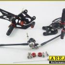 2007-2013 Honda CBR600RR Area 22 CNC Adjustable Rear Sets Footpeg Black Rearsets