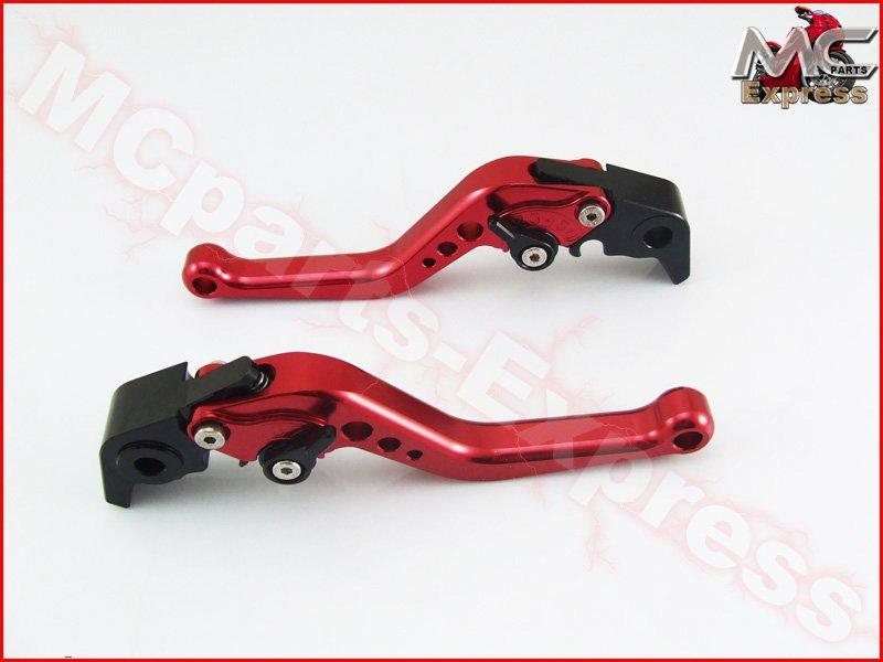 MC Short Adjustable CNC Levers Yamaha YZF R6 2005 - 2015 Red