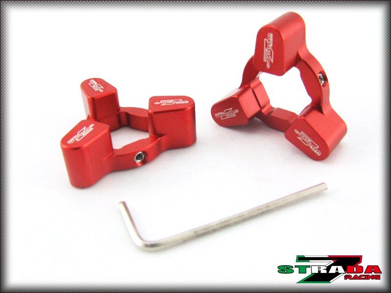 Strada 7 Racing CNC Front Fork Preload Adjusters Suzuki TL1000S TL1000R Red