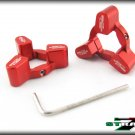 Strada 7 Racing CNC Front Fork Preload Adjusters Suzuki TL1000S TL1000R Red
