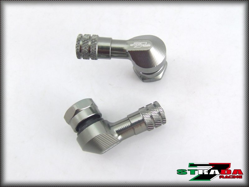 "Strada 7 83 Degree 8.3mm 0.357"" inch CNC Valve Stems Ducati S4RS 2006- 2008 Grey"
