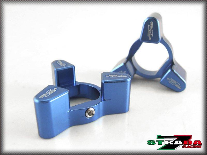 Strada 7 Racing CNC Front Fork Preload Adjusters Honda CBR 600 F2 F3 F4 F4i Blue
