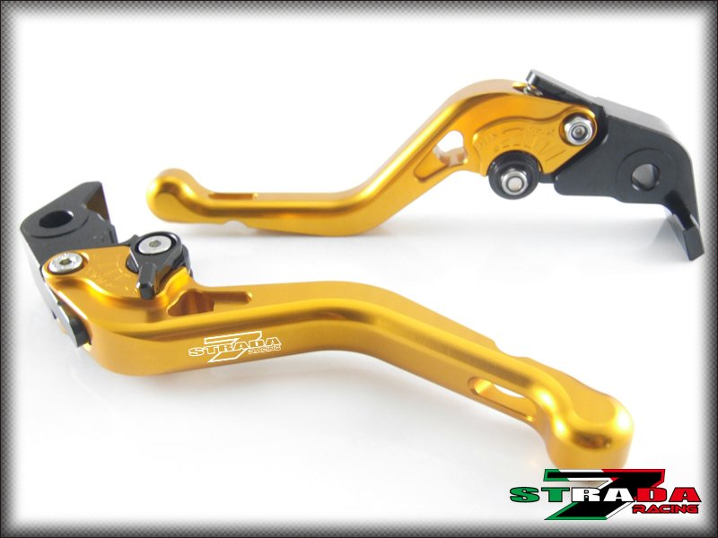 Strada 7 CNC Shorty Adjustable Levers Ducati ST4 / S / ABS 2004 - 2006 Gold