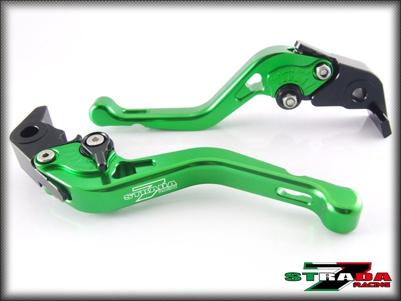 Strada 7 CNC Shorty Adjustable Levers Yamaha R6S CANADA VERSION 2007- 2009 Green