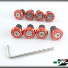 Strada 7 Racing CNC Windscreen Bolts M5 Wellnuts Set Yamaha XJ6 DIVERSION Red
