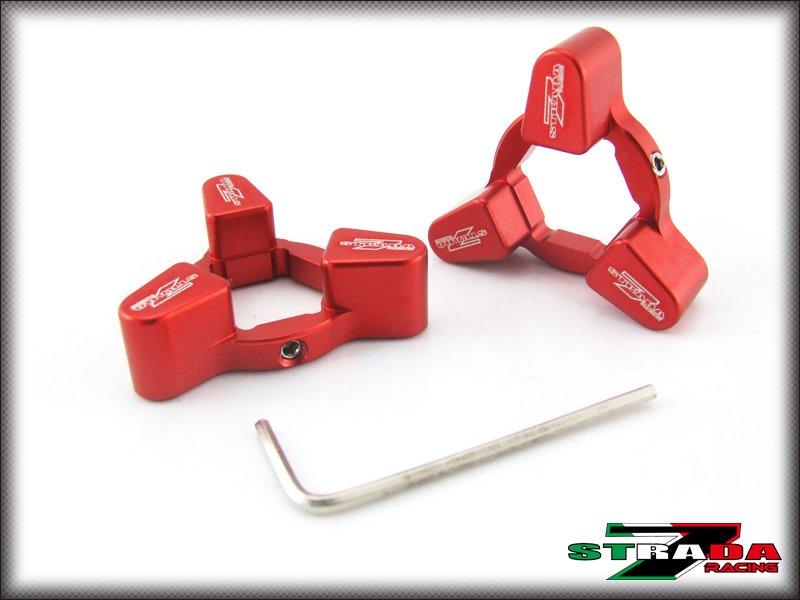 Strada 7 19mm Front Fork Preload Adjusters Kawasaki ZX-6R Z1000 Versys Red