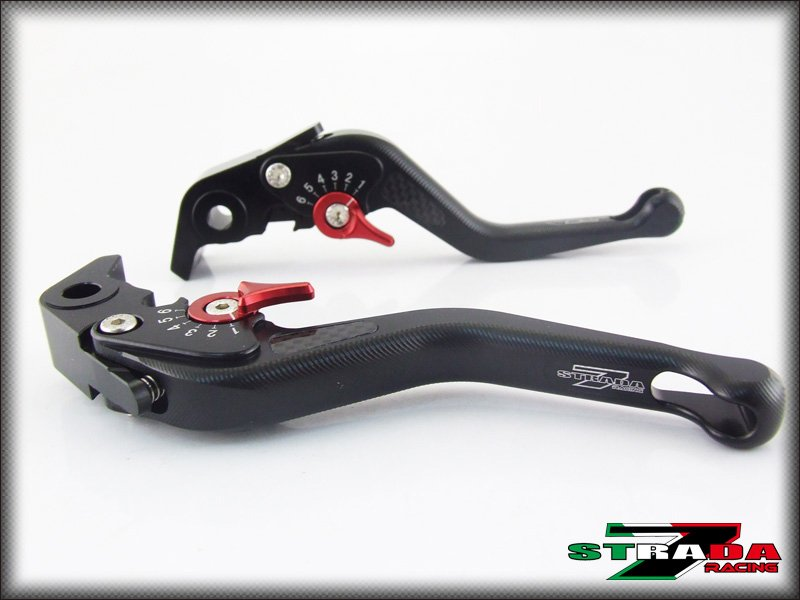 Strada 7 CNC Short Carbon Fiber Levers Triumph SPRINT GT 2011 - 2013 Black