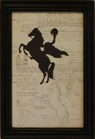 Silhouette Document Headless Horseman