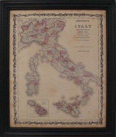 Johnson's Map of Italy