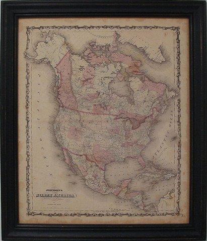 Johnson's Map of North America