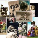 CD 1000 Vintage Victorian CHILDREN PHOTOS kids postcards boys girls potraits