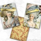 Hat Fashion, Vintage Ladies, Printable Images, Collage Sheet, Digital Background