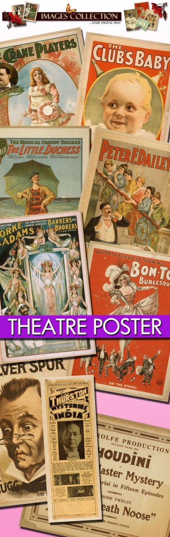 Theatre Posters, 1040 jpeg Img. -Part.1- theater drama actors belle epoque paris