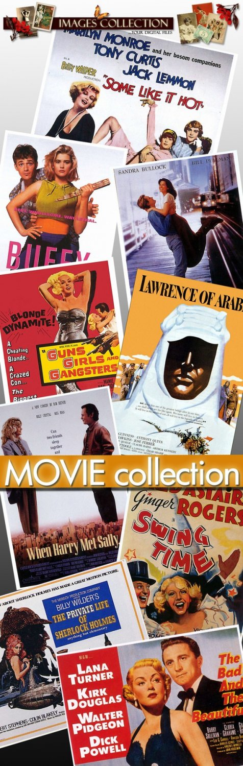 Movie Posters -Part.2- 700 Jpeg files scrap cards