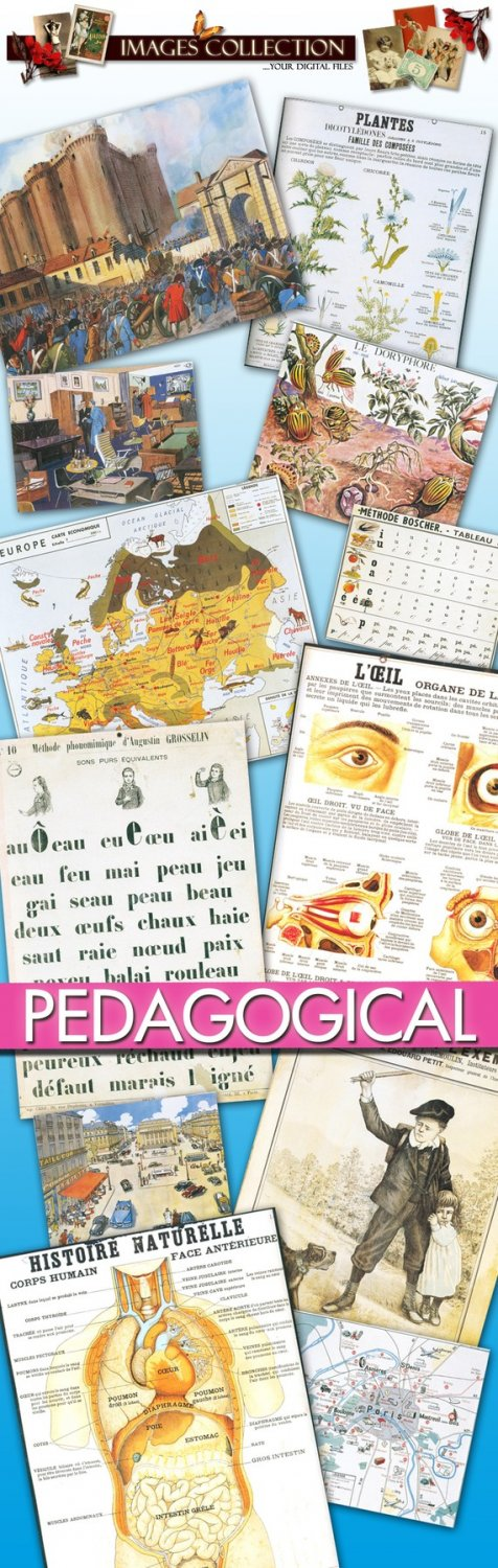 Old Pedagogical Pictures: cards