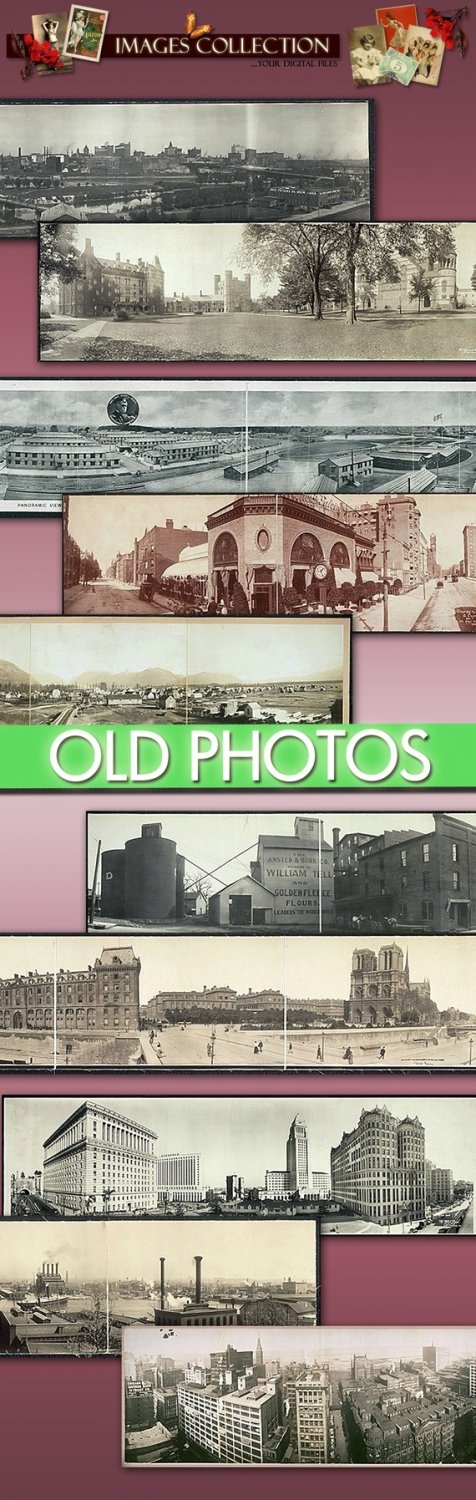 Digital Img. collection Old Panoramic photographs of cities -Part.2- cards