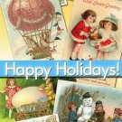 Happy Holidays 380 Img. christmas easter santa new year valentine postcard