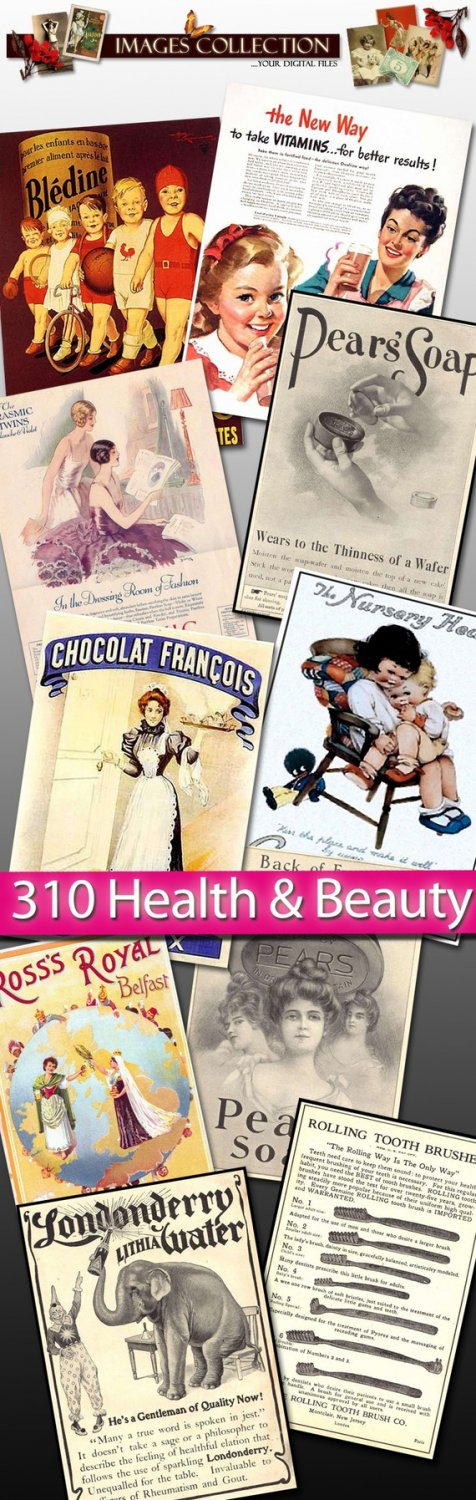 Digital collection Health ,  Beauty Img. cream ads soap