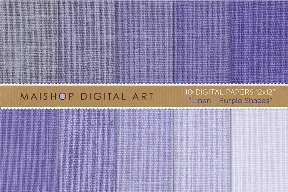 Digital Paper Linen-Purple Shades-Textured Baby ShowersCardsScrapbook