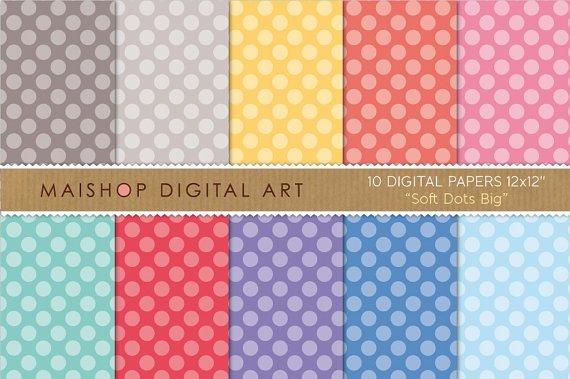 Digital Paper - Soft Dots Big