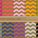 Digital Paper - Chevron on Kraft