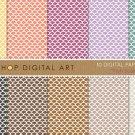 Digital Paper-Fish Scales II-YW,Org,Purp,Lilac,Grn,Blk,Brw ,Beige Backgroundsing