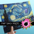 Doctor Who Van Gogh Starry Night Poster