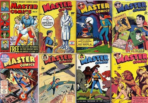 Fawcett MASTER COMICS DVD  1940s Marvel Jr. Bulletman Minute Man books