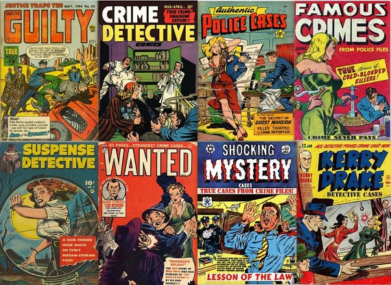DVD Golden Age CRIME DETECTIVE Comics (vol 2) Real Police Cases Murder Justice